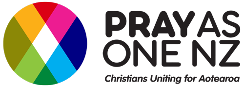 Pray As One NZ logo with words 500